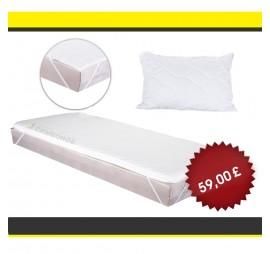 Promo: Top mattress Simeonov + Pillow with memory fluff + Mattress protector